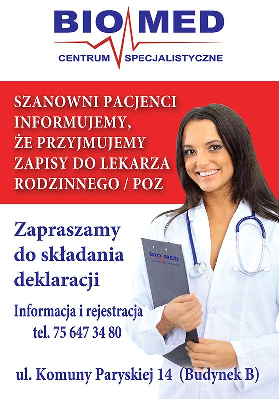 Lekarz rodzinny w Centrum Specjalistycznym Biomed Bolesławiec